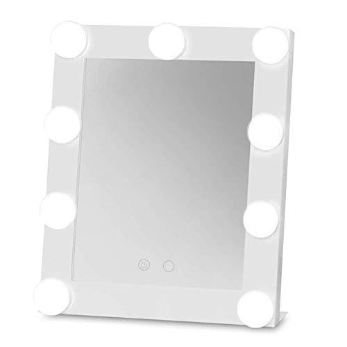 Xnrong Tragbare Schminkspiegel LED Beleuchtung Spiegel Licht Lampe Beleuchtung Make-up-Modellierung Beleuchtung Tools Desktop Spiegel, Weiß