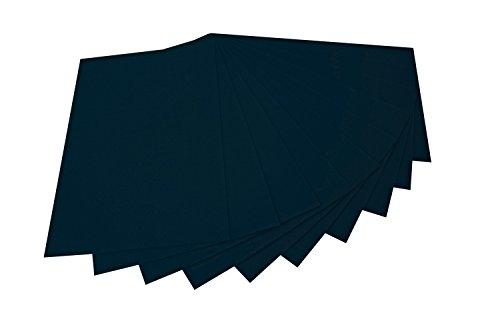 folia 520490 - Bastelfilz, mit feiner Wollqualität, 10 Blatt, 150 g/qm, 20 x 30 cm, schwarz, klebefleckenfreie Verarbeitung - ideal für vielfältige Bastelarbeiten