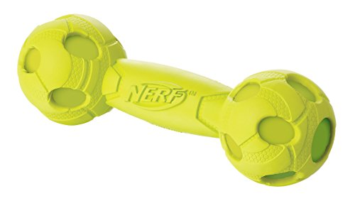 Nerf Dog Squeak Barbell: 17,8 cm