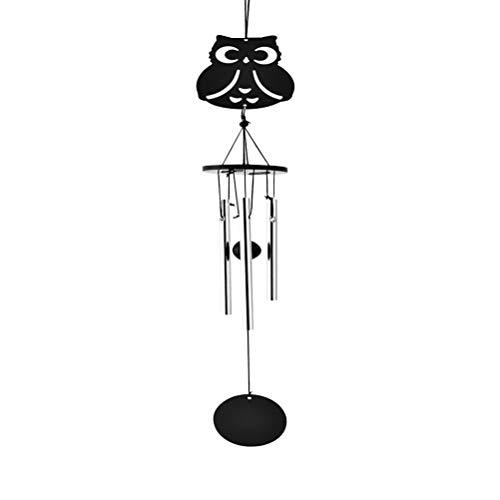 VOSAREA Im Freien große Windspiele - Metallhandwerk manuelle Multi-Tube-Musik Windspiele Ornamente kreative Geburtstagsgeschenke (Eule)