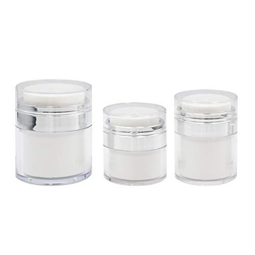 HEALLILY 3Pcs Airless Reise Flaschen Leere Nachfüllbare Lotion Pumpe Flaschen Kosmetische Flaschen Container für Lotion Make- Up Serum
