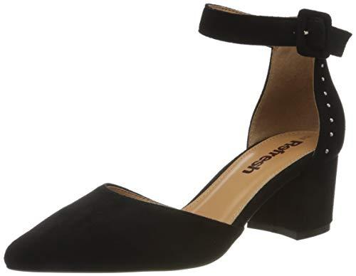 Refresh 69513.0, Zapatos con Tira de Tobillo Mujer, Negro (Negro Negro), 37 EU