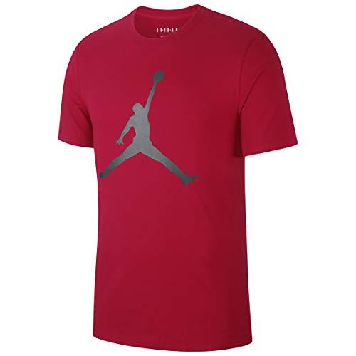 Nike M J Jumpman SS Crew Short Sleeve T-Shirt, Herren L rot/schwarz (Gym Red/Black)
