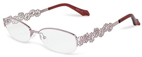 デューク 老眼鏡 レディース +2.0 度数 アートコレクション ナイロール ソフトケース付き ピンク DR-96-7+2.00