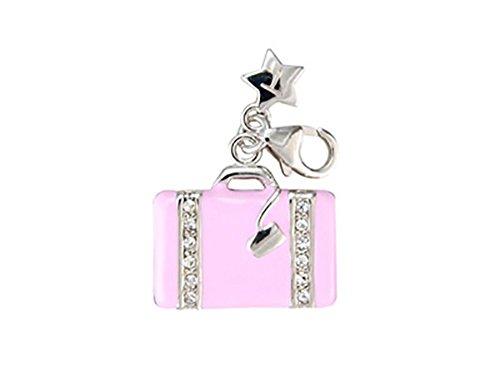 Tingle Of London-Ciondolo a forma di borsetta da donna, colore: Rosa