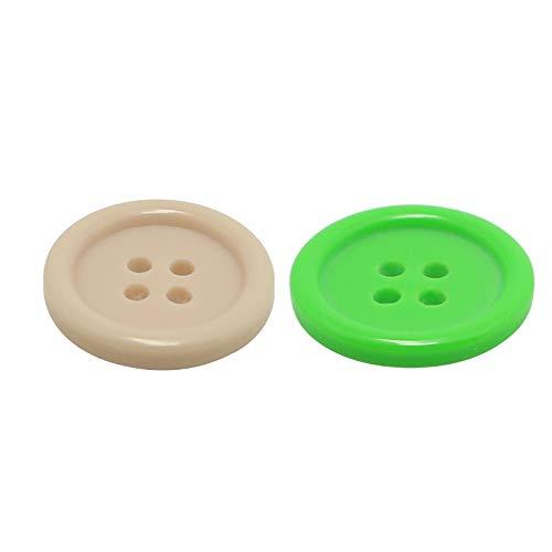 litulituhallo 2 paquetes de botones de botones de la ropa de flores instantáneas para coser artesanías botón de madera cárdigans