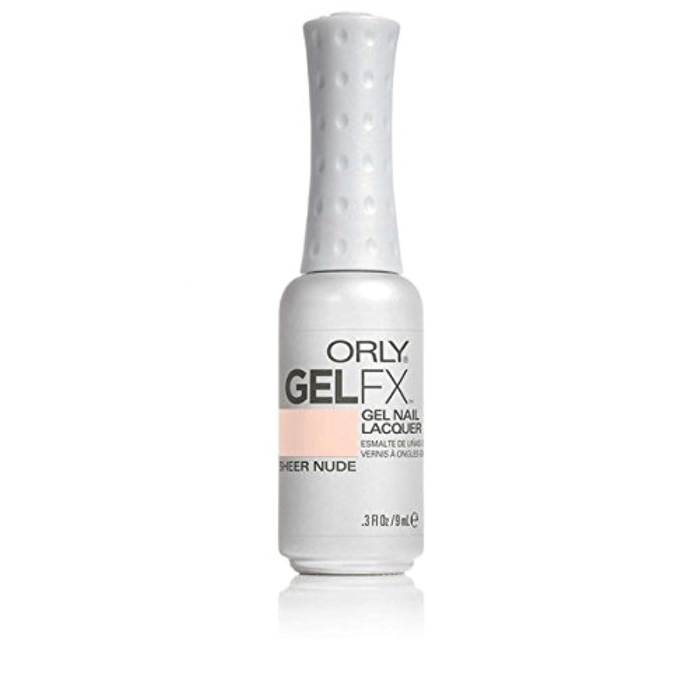 ケーブル偽装する敵対的ORLY(オーリー)ジェルFXジェルネイルラッカー 9ml シアーヌード#32479