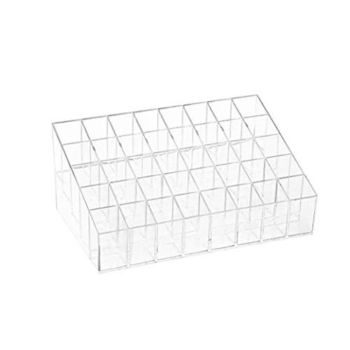 XKJFZ Lippenstift-Halter 40 Spaces Plexiglas Lippenstift Organizer-Ausstellungsstand Kosmetik Make-up Tabelle Organizer für Lippenstift, Bürsten, Flaschen und mehr