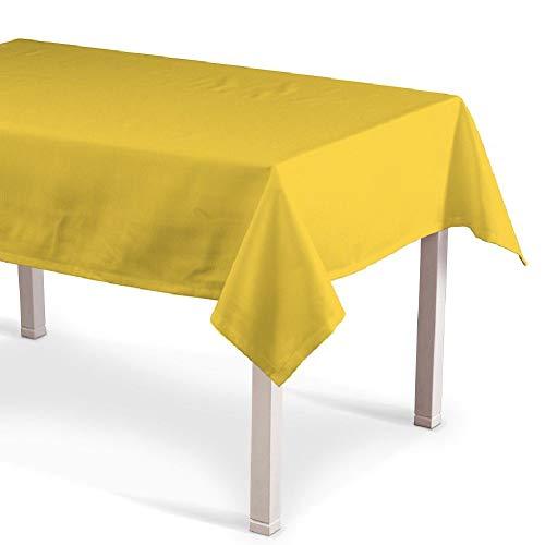 VITA PERFETTA Mantel de mesa rectangular antimanchas impermeable (amarillo, 140 x 300 cm)