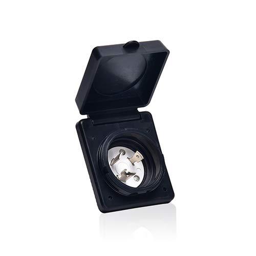 TREKPOWER 125V 30 AMP Power Plug Twist Lock Inlet ?marine shore power inlet?with 3 Stainless Steel Pins, White