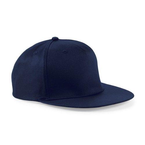 Beechfield - Gorra de rapero con 5paneles azul azul marino Talla única