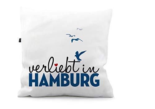 STINKSANDSTANKS Kissen verliebt in Hamburg KS149 (50 x 50 cm)