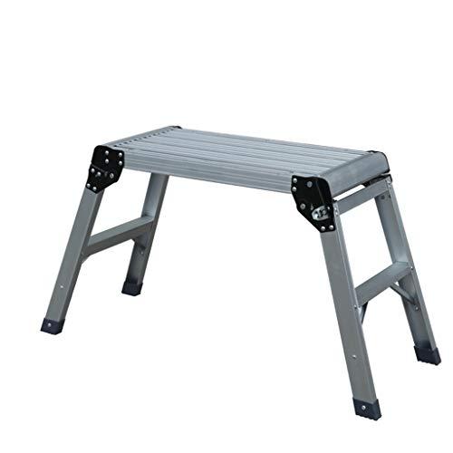 GUOXY Multifunktions-Hocker Sitzbank, Haushalt Dicke Aluminiumtrittschemel Folding Plattformleiter Pferd Bank Ladder,# 1,# 1