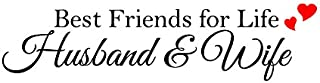 Newclew Best Friends for Life Husband & Wife Wall Art Quote with Heart Decal Words Lettering Wedding Decal Sticker