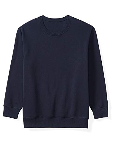 Amazon Essentials Men's Big and Tall Crewneck Fleece Sweatshirt fit by DXL, Navy, 5X