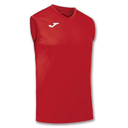 Joma Combi s/m, Camiseta Técnica sin Manga Unisex, Rojo, M