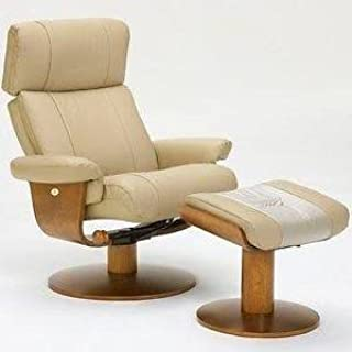 Norfolk Massaging Air Lumbar in Khaki Top Grain Leather Swivel, Recliner with Ottoman By Mac Motion Chairs