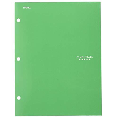 Five Star 4 Pocket Folder, 2 Pocket Folder Plus 2 Additional Pockets, Green (72091)