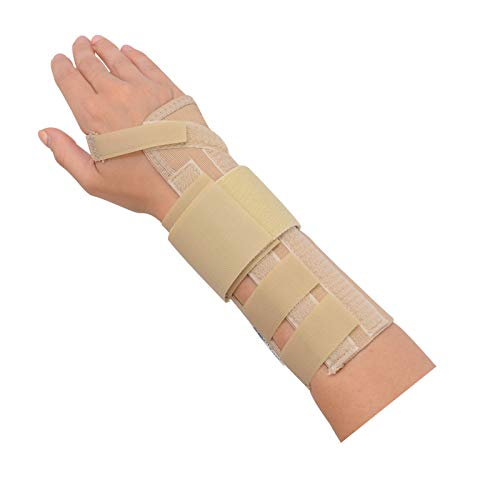 Rolyan AlignRite Wrist Support With Wrap-Around Strap, Long Length, Right, Large, Comfortable Stabilization & Support Brace, Ergonomic Thumb Opening for Full Finger Range of Motion, Breathable