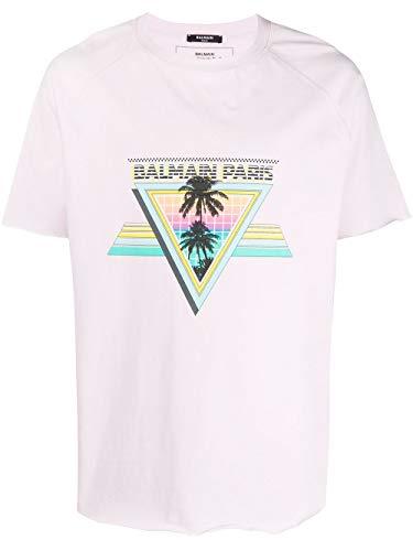 Luxury Fashion   Balmain Heren TH01252I305AAA Roze Katoen T-shirts   Lente-zomer 20