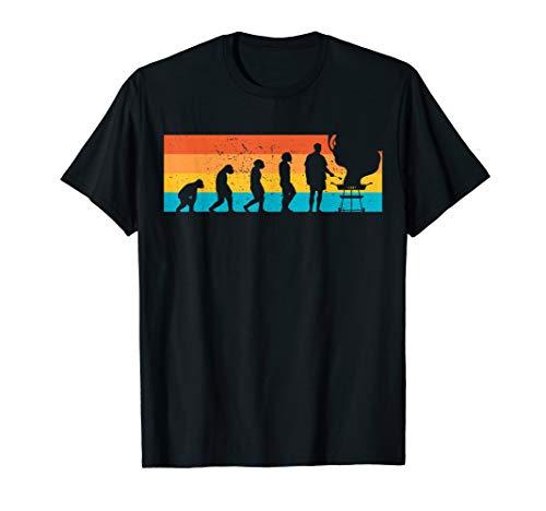 Herren Retro Evolution Grillen | Party Grillfan BBQ Barbecue Smoker T-Shirt