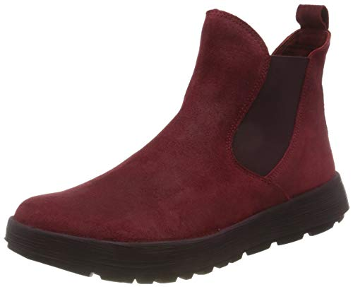 Think! Damen Comoda_3-000061 Nachhaltiger, Ledergefütterter Chelsea Boots, Rot 5000 Cherry, 39 EU