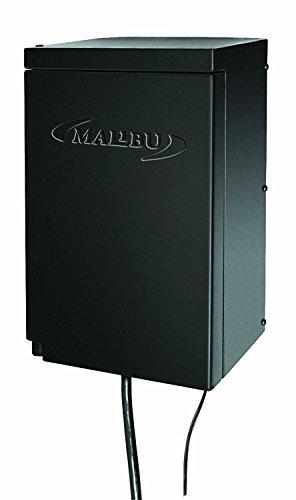 Malibu 200 Watt Power Pack with Sensor and Weather Shield for Low Voltage Landscape Lighting Spotlight Outdoor Transformer 120V Input 12V Output 8100-0200-01