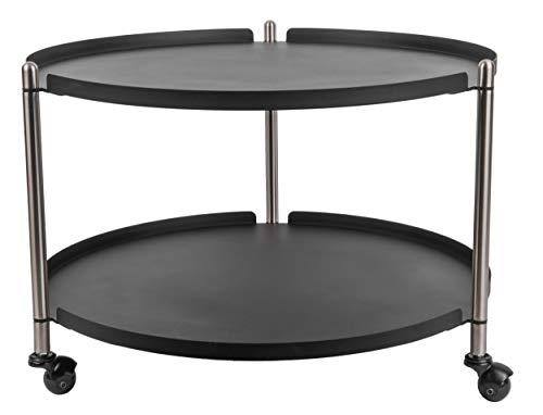 Present Time - Table Basse Noire Mate et métal Thrill