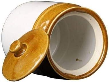 Generic Ceramic Barni Multipurpose Jar Martban with Ceramic lid for Dry Fruit Pickle Tea Coffee Storage Jar for Kitchen (Set