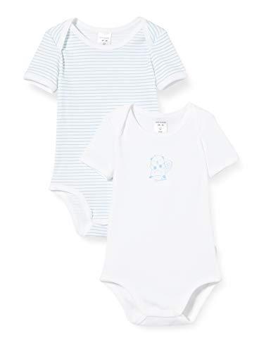 Schiesser Baby-Jungen Multipack 2Pack Bodies 1/2 Strampler, Mehrfarbig (Sortiert 1 901), 98 (Herstellergröße:098) (2er Pack)