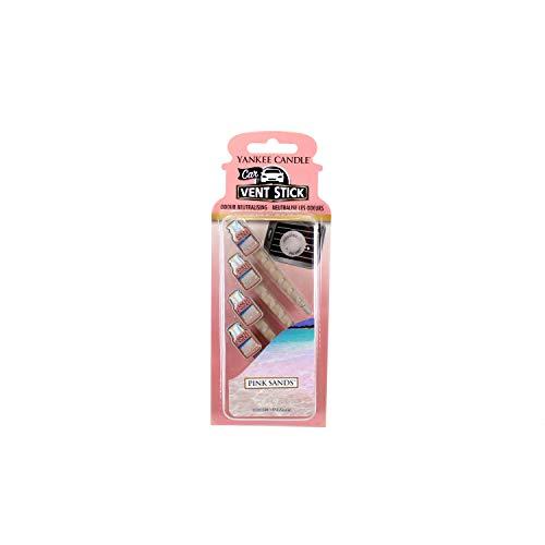 YANKEE CANDLE 5038580059939 Car Vent Stick Profumatore per Auto, Pink Sands, Confezione da 4 Pezzi, 4 x 7.5 x 16.5 cm