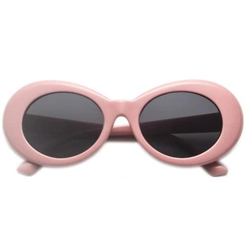 JFAN Gafas de Sol Ovaladas Eyewear de Retro para Mujer y Hombre UV400 de Protección