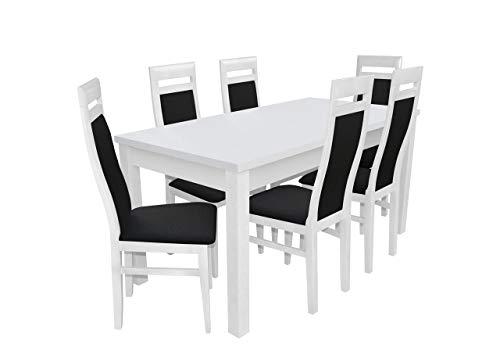 Mirjan24 Esstisch Stuhl Set RB24 Essgruppe, Tischgruppe, Sitzgruppe Esstischgruppe, Esszimmergarnitur (Weiß, Soft 011)