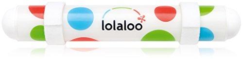 lolaloo Kinderwagenschaukler, Einschlafhilfe für Babys, schaukelt jeden Kinderwagen, weiße Klettbänder