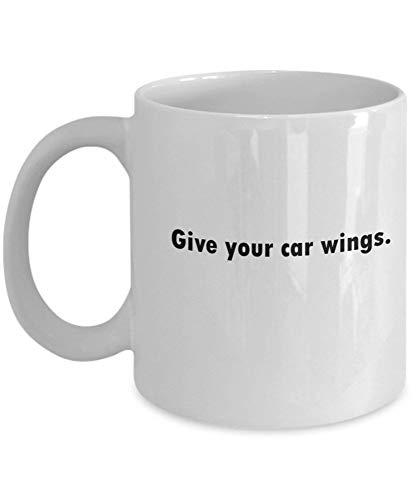 Tazas de café para dar alas a tu coche, regalos para el día de la madre, novedosas tazas divertidas, regalo de 11 onzas
