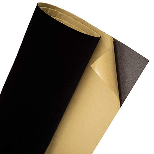 Black Self Adhesive Velvet Flocking Liner for Jewelry Drawer Craft Fabric Peel Stick15.8 x 158