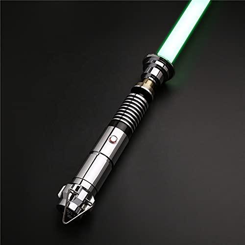 SABER KING Espada láser Luke Skywalker | RGB Lightsaber Force FX | Espada láser Fuerza FX | Espada de luz doble FX | 12 colores RGB 6 Set Soundfonts | Espada láser FX | TS005