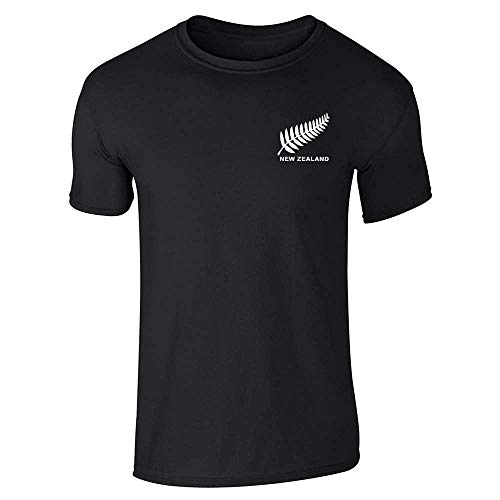 New Zealand Soccer Retro National Team Jersey Black 4XL Graphic Tee T-Shirt for Men