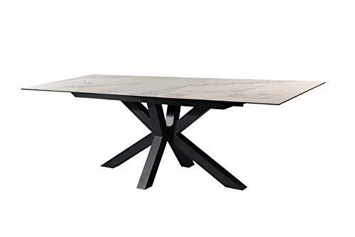 riess-ambiente.de Moderner Keramik Esstisch Eternity 180-225cm Marmor-Optik ausziehbar Konferenztisch Küchentisch Esszimmertisch Tisch