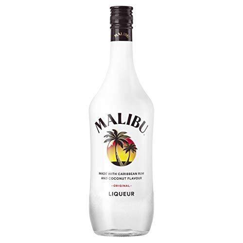 Malibu Caribbean Rum – Fruchtiger Likör auf Rum-Basis mit natürlichem Kokosaroma – Leichte Spirituose ideal für Longdrinks oder Cocktails – 1 x 1 L