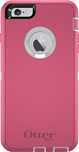 OtterBox DEFENDER iPhone 6 Plus/6s Plus Case - Frustration Free Packaging - HIBISCUS FROST (WHITE/HIBISCUS PINK)