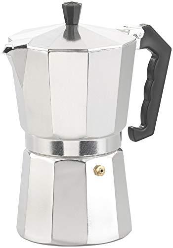 Cucina di Modena Kaffeebereiter: Espresso-Kocher für 9 Tassen, 400 ml, für Gas- & Eletroherde geeignet (Outdoor-Espressokocher)