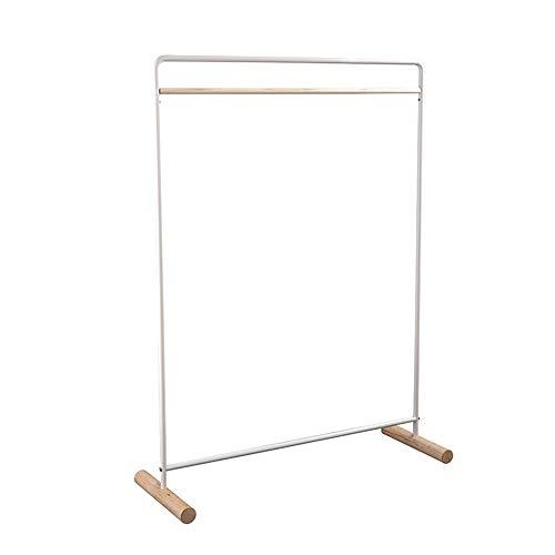 Perchero Para Ropa Diseño simple Tendedero de ropa independiente Escudo Estante de la capa de entrada de almacenamiento Exhibición Colgante Del Vestido ( Color : Wood , Size : 122x42x164cm )