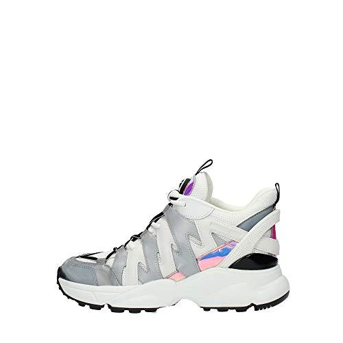 Michael Kors Damen Sneakers 43R0HRFS8Q Hero Leder Fabric Grau