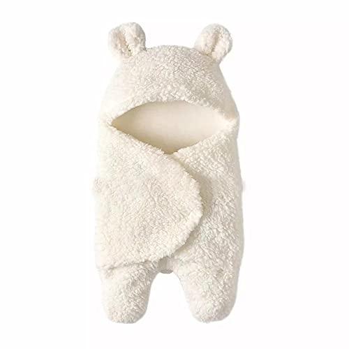 SUNIY Manta de bebé recién nacido envuelto manta lindo oso bebé saco de dormir suave cálido bebé con capucha para bebé niña