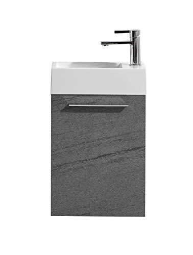 Badezimmer Badmöbel Madrid 40x22 cm gris - Unterschrank Schrank Waschbecken Waschtisch