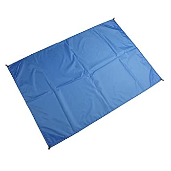 Couverture de pique-nique - Couverture de pique-nique - Portable - Imperméable - Pour la plage, les voyages, le camping - 100 x 140 cm - Bleu