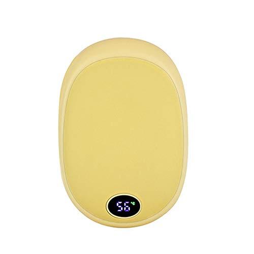 WGFW Handwärmer, elektronischer Taschenheizer, großer Wärmespeicherung, ideal zum Wärmen von Händen und Füßen, fühlt sich gut an, rutschfest, verbrüht, gelb