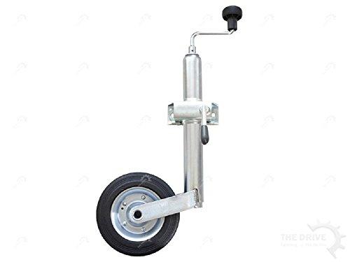 The Drive – Roue jockey 150 kg Ø 48 mm avec support de serrage