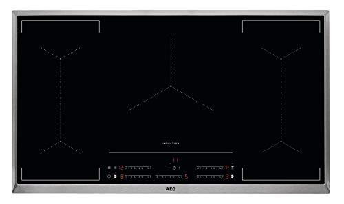 AEG IKE9545AXB - Cocina de inducción con sistema automático de seguridad para niños (90 cm, marco de acero inoxidable, 5 zonas de cocción, función de puente, función de encendido y seguridad)